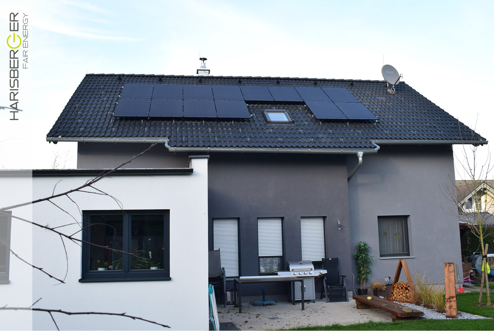 Photovoltaikanlage, Einfamilienhaus, Bad Wimsbach Neydharting, 4,06 kWp